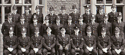 Recruits from the Bucks Constabulary 1964