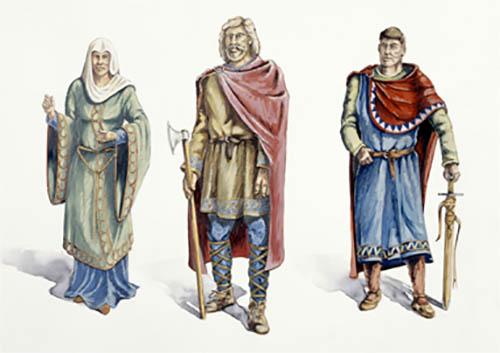 A drawing of a Saxon thane, a local leader