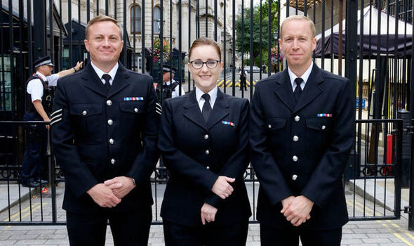 HEROIC: PCs Michael Otterson, Sarah Currie and Sergeant Elliott Richardson