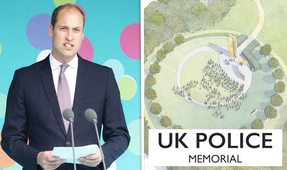 Prince William and the police memorial design